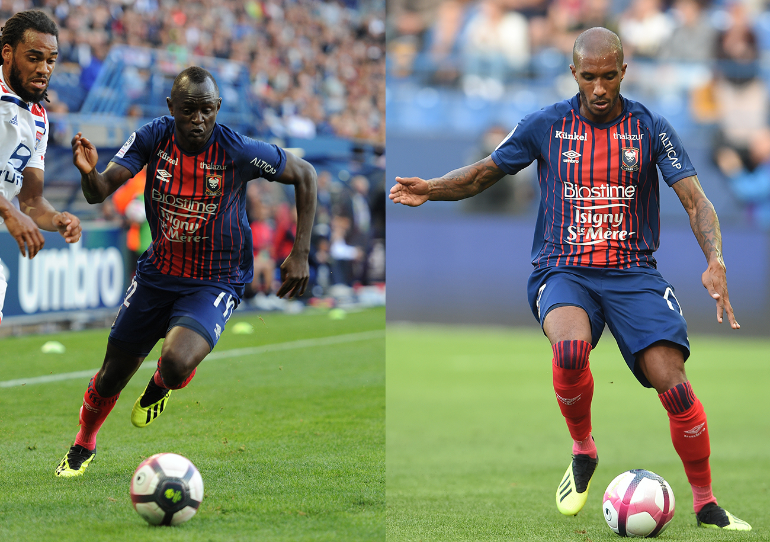 [8e journée de L1] SM Caen 1-0 Amiens SC Adama_Mbengue_et_Emmanuel_Imorou_se_trouvent_en_concurrence_pour_le_poste_de_late%CC%81ral_gauche